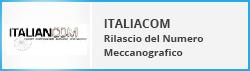 Italcom Rilascio del Numero Meccanografico
